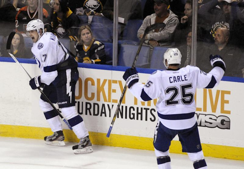 Lightning rally for 3-2 OT victory over Sabres