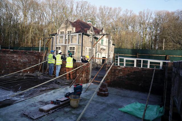 The Vulcan Pub was knocked down - but it has been moved brick-by-brick ten miles to be rebuilt inside a museum (WALES NEWS SERVICE)