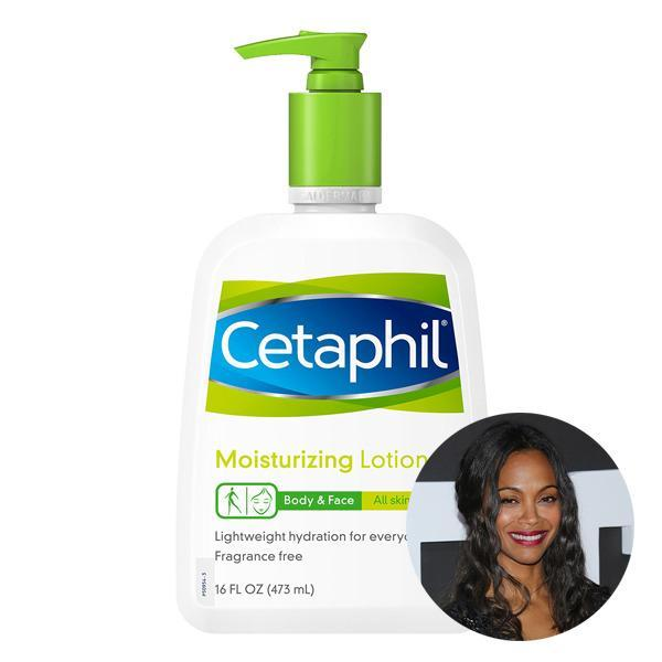 <p>Zoe Saldana's go-to moisturizer is this bargain buy! She told <i>Allure</i> that she also likes using Cetaphil's cleanser.</p>
