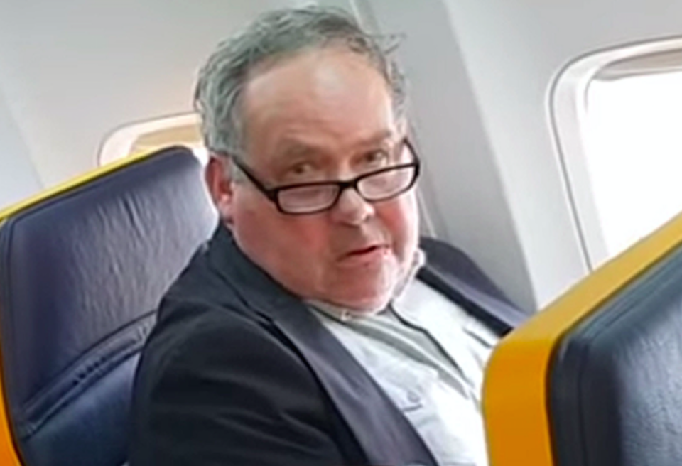 The man was caught on camera launching a racist tirade at a fellow passenger (Picture; PA)