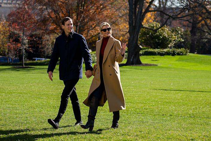 <p>Kushner helped create shell Trump campaign company that secretly paid family members, report says</p> (Tasos Katopodis/Getty Images)