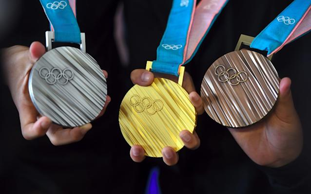 The PyeongChang 2018 Olympic medals  - AFP