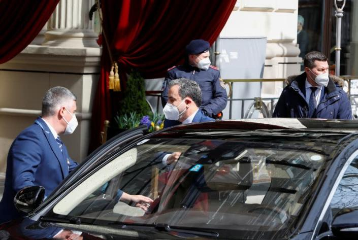 Iranian Deputy at Ministry of Foreign Affairs Abbas Araghchi arrives at a meeting of the JCPOA Joint Commission, in Vienna