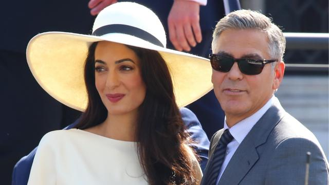 George and Amal Clooney Share the Most Adorable PDA in Italy