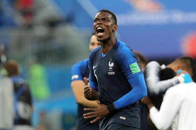 French midfielder Paul Pogba dedicated their 1-0 win over Belgium in the World Cup semifinals on Tuesday to the Thailand youth soccer team that was trapped in a cave for more than two weeks. (Getty Images)