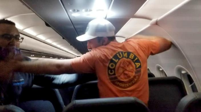 Frontier Airlines passenger taped to seat, arrested after altercation