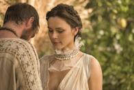"""<p>This romantic (and very dramatic) series tells the epic story of everything that led up to the historic Trojan War. Hint: it involves love, secrets, temptation, sex, intrigue, and the ultimate betrayal.</p> <p><a href=""""https://www.netflix.com/title/80175352"""" class=""""link rapid-noclick-resp"""" rel=""""nofollow noopener"""" target=""""_blank"""" data-ylk=""""slk:Watch Troy: Fall of a City on Netflix now"""">Watch <strong>Troy: Fall of a City</strong> on Netflix now</a>. </p>"""