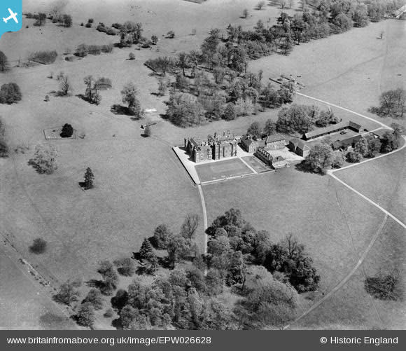 The former Belhus Mansion in 1929, before its demolition in 1957. The image shows faint traces of the buried circular garden feature to the left. (Historic England/ PA)