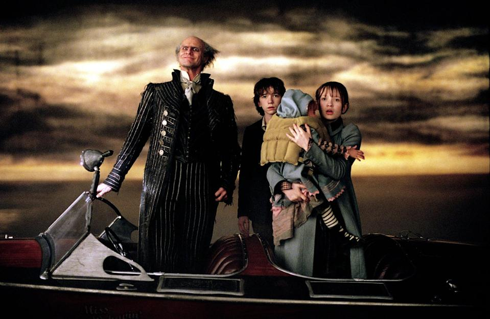 """<p><strong>Netflix's Description:</strong> """"After their parents are tragically killed, three orphans are taken in by the dastardly Count Olaf, who hopes to snatch their inheritance from them.""""</p> <p><a href=""""https://www.netflix.com/title/70018296"""" class=""""link rapid-noclick-resp"""" rel=""""nofollow noopener"""" target=""""_blank"""" data-ylk=""""slk:Stream Lemony Snicket's A Series of Unfortunate Events on Netflix!"""">Stream <strong>Lemony Snicket's A Series of Unfortunate Events</strong> on Netflix!</a></p>"""
