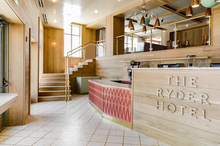 Check in at The Ryder Hotel, one of the hip new hotels of downtown Charleston.