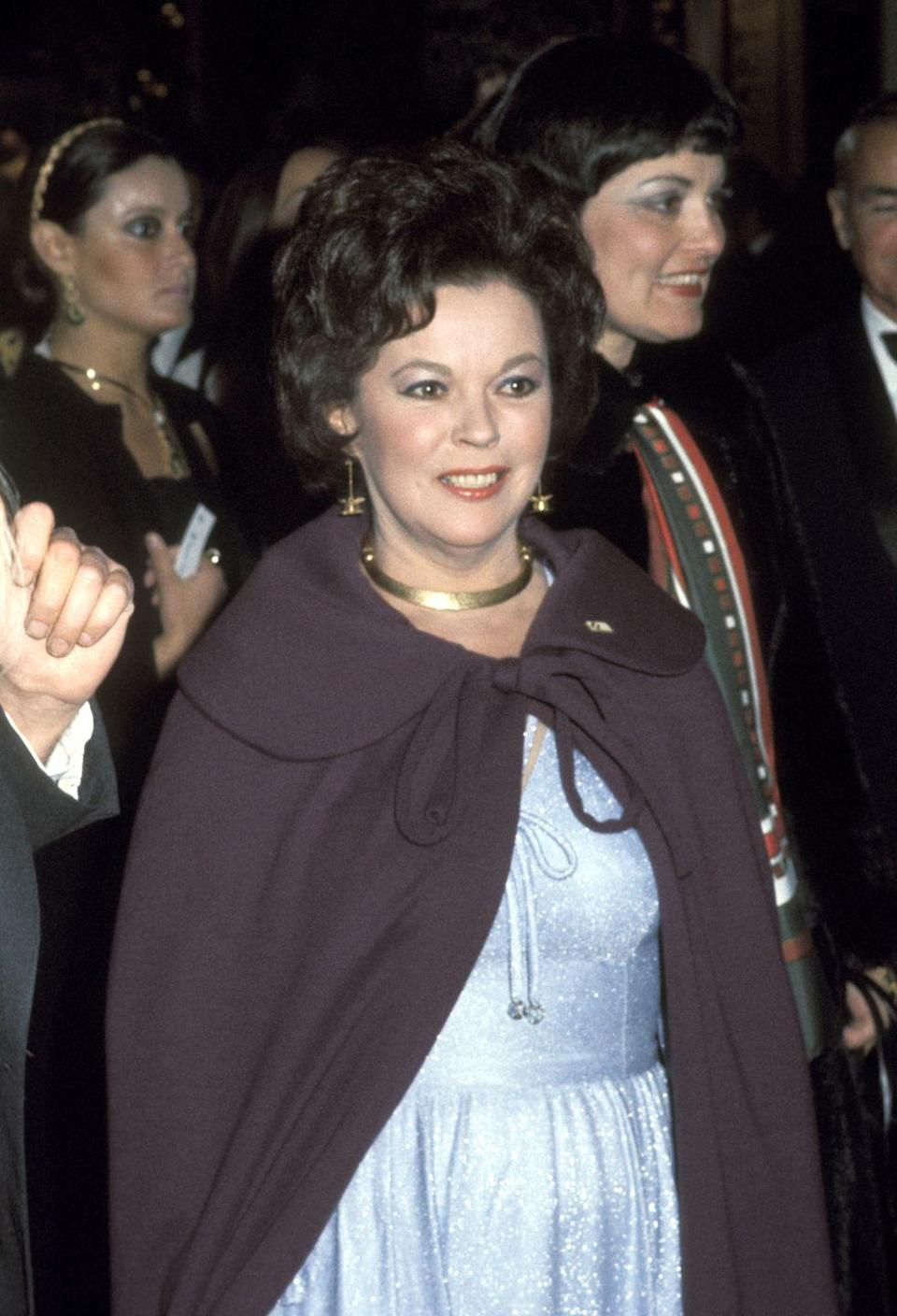 <p>In 1974, Shirley was named the first female Chief of Protocol and was in charge of the inauguration of President Jimmy Carter. Here, she's seen arriving at the Inaugural Ball. </p>