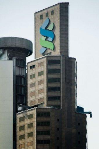 The Standard Chartered Bank building is seen in Hong Kong