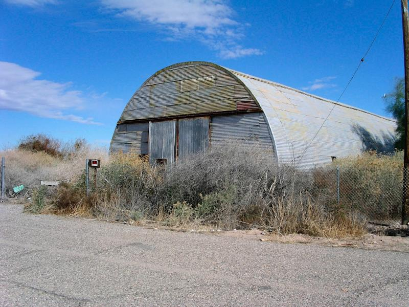 An old warehouse on the site of the former Poston internment camp is, pictured recently, where between 10,000 and 17,000 Japanese-Americans were preventively imprisoned during World War II on the Colorado River Indian Tribes Reservation (AFP Photo/Max Kniazkov)
