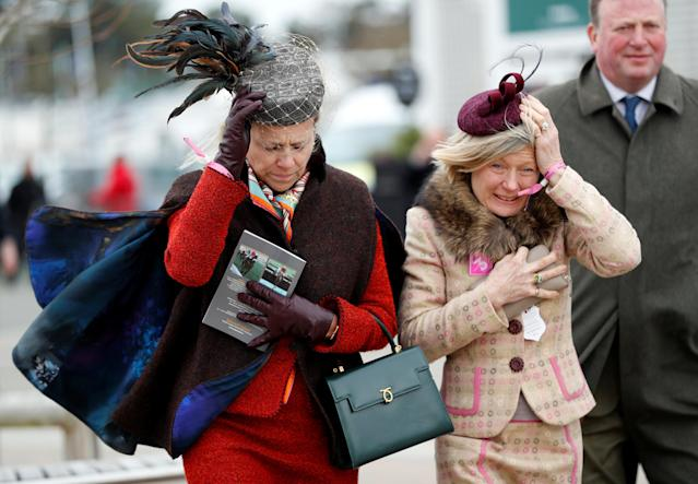 Horse Racing - Cheltenham Festival - Cheltenham Racecourse, Cheltenham, Britain - March 14, 2018 Racegoers before racing REUTERS/Darren Staples