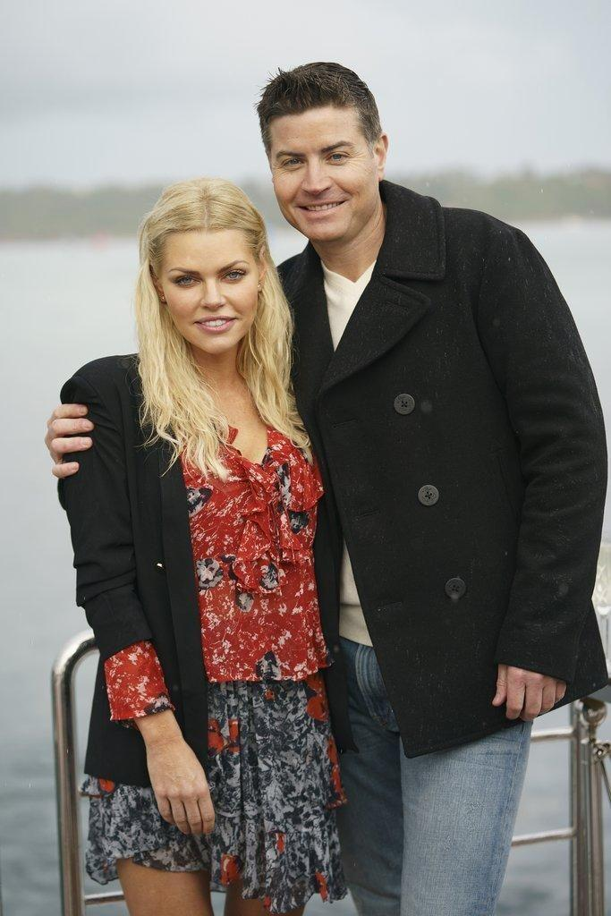 Sophie and Stu during the filming of the Bachelorette. Source: Ten