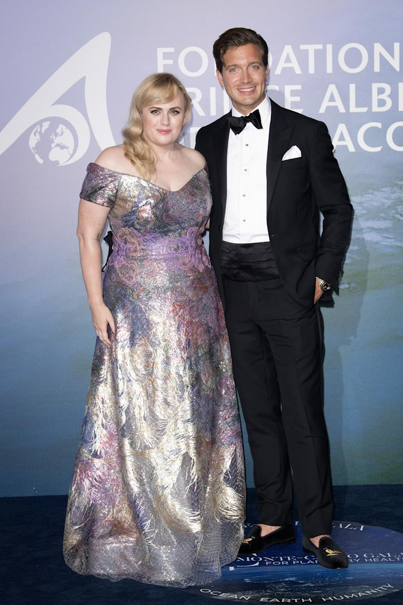 Rebel Wilson made her red carpet debut with new boyfriend Jacob Busch. Photo: Getty