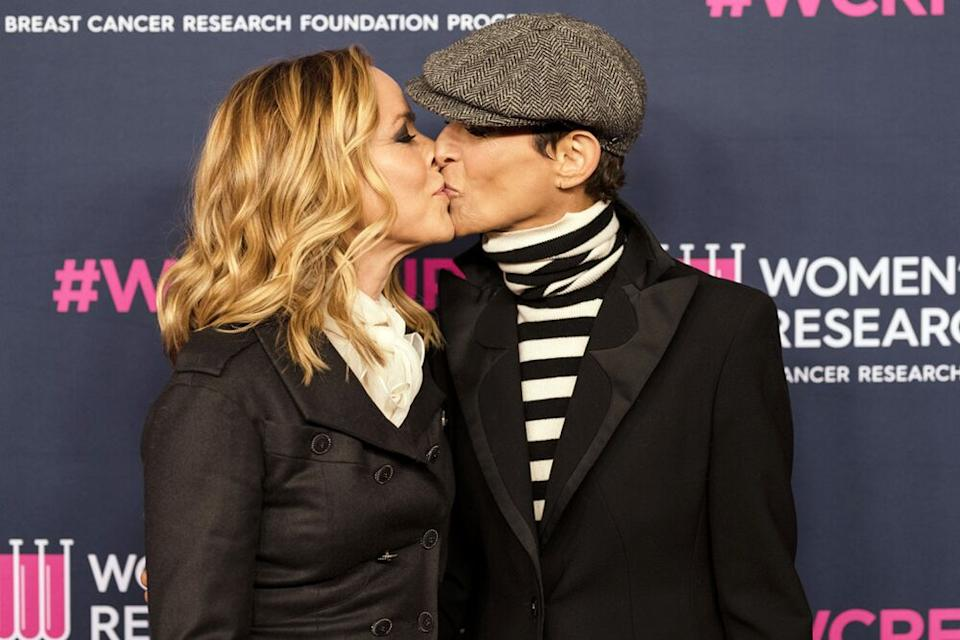 Maria Bello and Dominique Crenn | Morgan Lieberman/FilmMagic