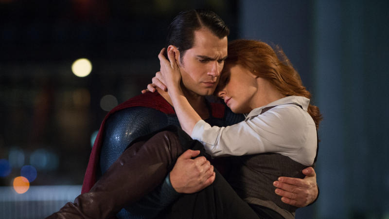 Henry Cavill as Superman and Amy Adams as Lois Lane. (Credit: Warner Bros)