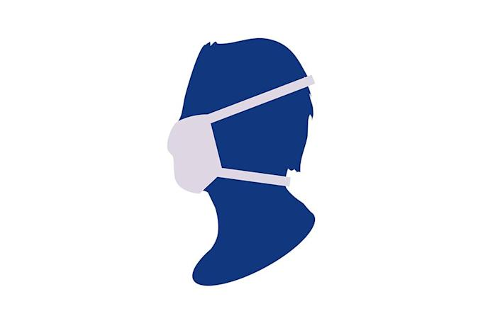 An image, released by Public Health England, demonstrates how a cloth face mask should ideally be worn. (PHE)
