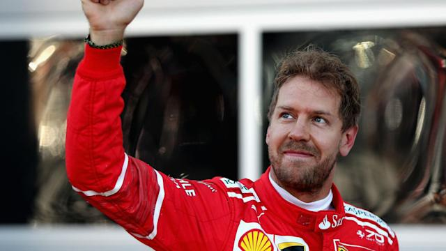 Ferrari claimed their first qualifying one-two for nine years and Russian Grand Prix pole-sitter Sebastian Vettel was left delighted.
