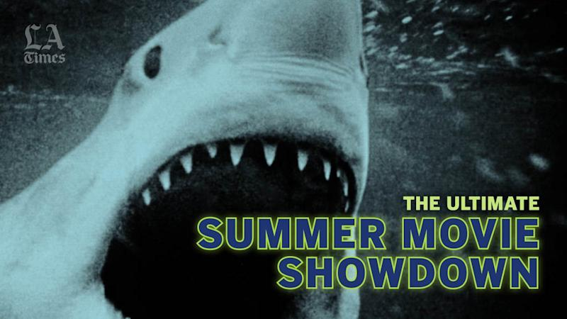 A graphic of the Los Angeles Times Ultimate Summer Movie Showdown series