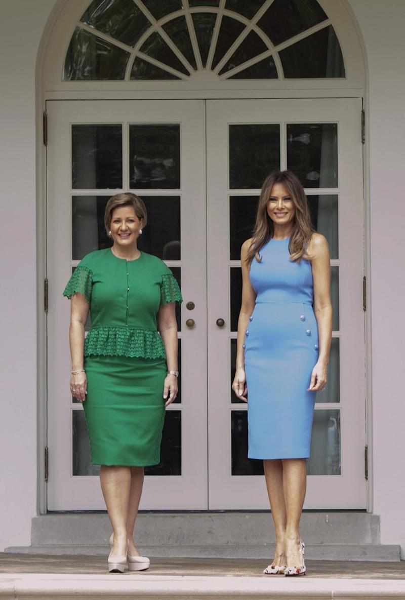 Melania Trump wearing Michael Kors in June 2017 (Getty Images)