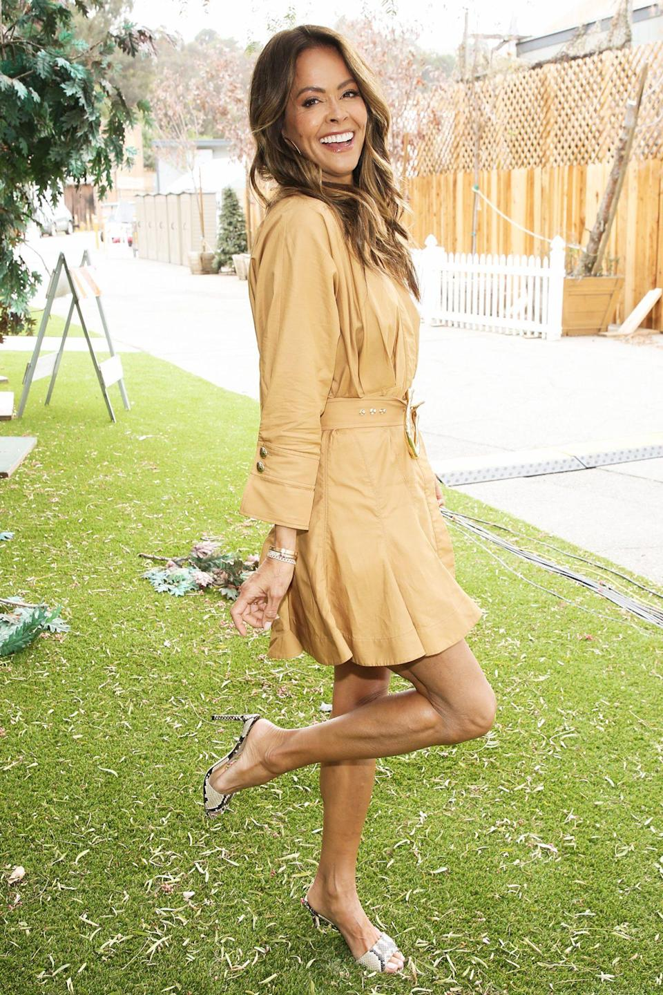 <p>Brooke Burke visits Hallmark Channel's <em>Home & Family</em> at<br> Universal Studios Hollywood on Tuesday.</p>