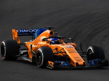 MacLaren's Fernando Alonso takes part in the tests for the new Formula 1 Grand Prix season at the Circuit de Catalunya. AFP