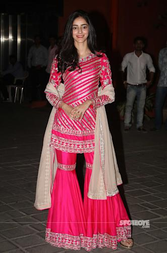 ananya panday at arpita khan ganpati celebration