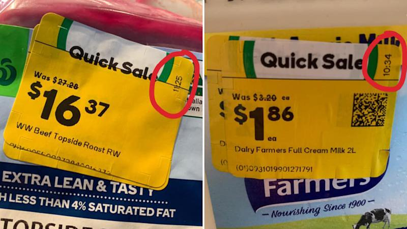 Woolworths quick sale markdown items