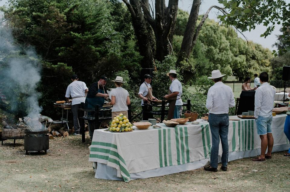 Martín Molteni, the Argentine chef, organized the most delicious brunch dishes with organic eggs, toasted bread, and grilled vegetables. The food was cooked on demand and guests could ask for special treats.