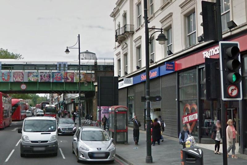 Brixton crash: A suspected shop lifter is believed to have headbutted a bus after running from a shop: Google maps