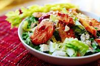 """<p>Get ready for game day with this play on beloved buffalo wings. Of course, it wouldn't be buffalo chicken salad without the blue cheese dressing: Make your own by stirring together blue cheese crumbles and ranch dressing. </p><p><a href=""""https://www.thepioneerwoman.com/food-cooking/recipes/a11643/buffalo-chicken-salad/"""" rel=""""nofollow noopener"""" target=""""_blank"""" data-ylk=""""slk:Get Ree's recipe."""" class=""""link rapid-noclick-resp""""><strong>Get Ree's recipe. </strong></a></p><p><a class=""""link rapid-noclick-resp"""" href=""""https://go.redirectingat.com?id=74968X1596630&url=https%3A%2F%2Fwww.walmart.com%2Fsearch%2F%3Fquery%3Dcast%2Biron%2Bskillet&sref=https%3A%2F%2Fwww.thepioneerwoman.com%2Ffood-cooking%2Fmeals-menus%2Fg36806222%2Ffall-salad-recipes%2F"""" rel=""""nofollow noopener"""" target=""""_blank"""" data-ylk=""""slk:SHOP CAST IRON SKILLET"""">SHOP CAST IRON SKILLET</a></p>"""