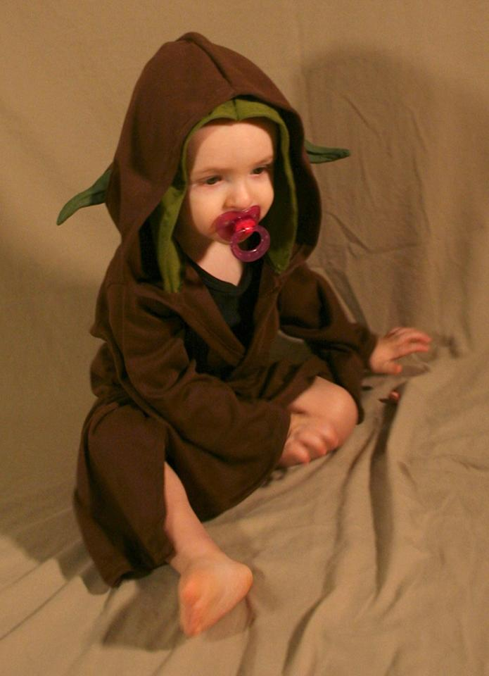 """<p>Size matters not — unless you want to dress your baby up as Yoda this Yuletide. Consider buying this cuddly Baby Yoda costume — which comes in newborn, infant, and toddler sizes — for the little one in your life. Pacifier not included… (<a rel=""""nofollow"""" href=""""http://www.bonanza.com/listings/Yoda-Baby-Costume-Star-Wars/361252725?st_id=18196677"""">$47, Bonanza.com)</a> </p>"""