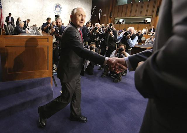 <p>U.S. Attorney General Jeff Sessions arrives to testify before a Senate Intelligence Committee hearing on Capitol Hill in Washington, U.S., June 13, 2017. (Photo: Jim Bourg/Reuters) </p>