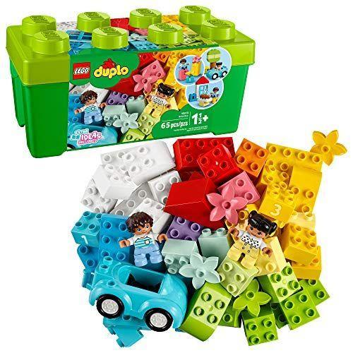 """<p><strong>LEGO</strong></p><p>amazon.com</p><p><strong>$62.47</strong></p><p><a href=""""https://www.amazon.com/dp/B07WJJF8PB?tag=syn-yahoo-20&ascsubtag=%5Bartid%7C10060.g.35049077%5Bsrc%7Cyahoo-us"""" rel=""""nofollow noopener"""" target=""""_blank"""" data-ylk=""""slk:Shop Now"""" class=""""link rapid-noclick-resp"""">Shop Now</a></p><p>If you have a ton of toys at home that are in good condition, yet have completely lost the interest of your kiddos, don't throw them away. There are so many ways to donate toys, and so many children at just the right age who don't always get to play with really cool toys. </p>"""