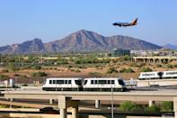 """<p>Love watching planes land and take off? Get on board the <a href=""""https://www.skyharbor.com/Media_old/WhatsHappening/Pre2013Archives/2015/05/27/phx-sky-train-takes-first-official-ride-over-taxiway"""" rel=""""nofollow noopener"""" target=""""_blank"""" data-ylk=""""slk:PHX Sky Train"""" class=""""link rapid-noclick-resp"""">PHX Sky Train</a>. Located at the Phoenix Sky Harbor International Airport, the trains cross over an active airport taxiway. It's the first system in the world to do this! </p>"""