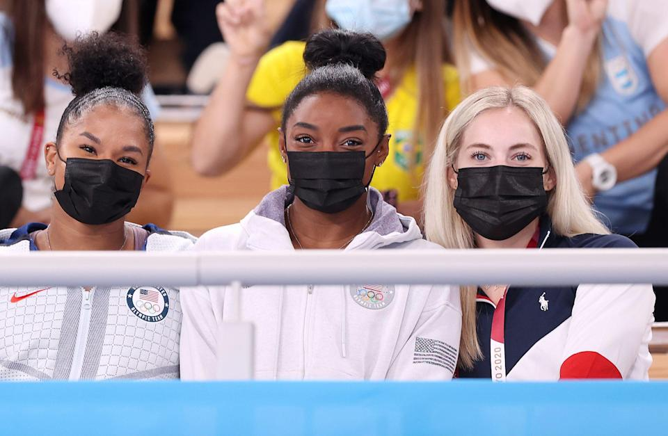 """<p>On July 30, USA Gymnastics confirmed that Biles <a href=""""https://people.com/sports/tokyo-olympics-simone-biles-withdraws-from-vault-uneven-bars-finals/"""" rel=""""nofollow noopener"""" target=""""_blank"""" data-ylk=""""slk:withdrew from the vault and bars finals"""" class=""""link rapid-noclick-resp"""">withdrew from the vault and bars finals</a>, which took place two days later.</p> <p>""""Today, after further consultation with medical staff, Simone Biles has decided to withdraw from the event finals for vault and the uneven bars. She will continue to be evaluated daily to determine whether to compete in the finals for floor exercise and balance beam,"""" the statement read.</p> <p>Skinner was announced as the one to step in for Biles in the vault final. </p> <p>Had she competed, Biles could have attempted the <a href=""""https://people.com/sports/tokyo-olympics-simone-biles-nails-yurchenko-double-pike-vault-at-podium-training/"""" rel=""""nofollow noopener"""" target=""""_blank"""" data-ylk=""""slk:Yurchenko double pike"""" class=""""link rapid-noclick-resp"""">Yurchenko double pike</a> in Olympic competition and would've been able to defend her title from the 2016 Rio Games.</p>"""