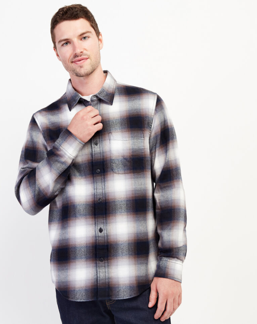 Wallace Flannel Shirt. Image via Roots.