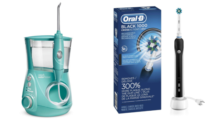 waterpik and electric toothbrush