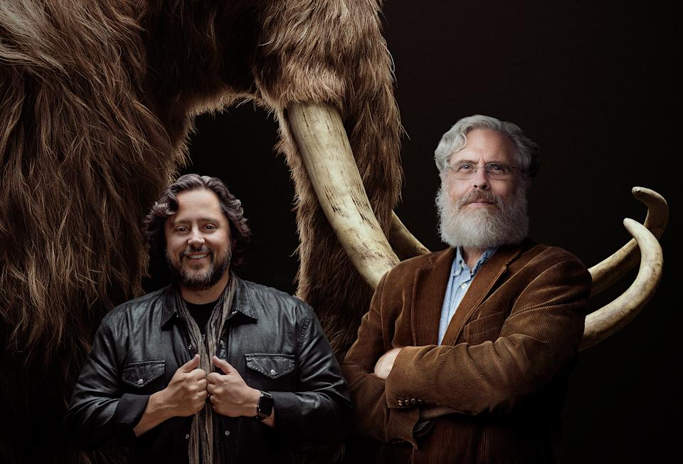Ben Lamm and George Church. (Colossal via The New York Times)