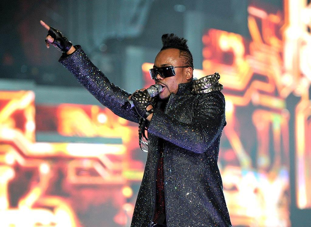 "Meanwhile, after singing ""Bebot"" in his signature Mohawk and a bedazzled jacket, apl.de.ap showed off his breakdancing skills. John Shearer/<a href=""http://www.wireimage.com"" target=""new"">WireImage.com</a> - March 29, 2010"