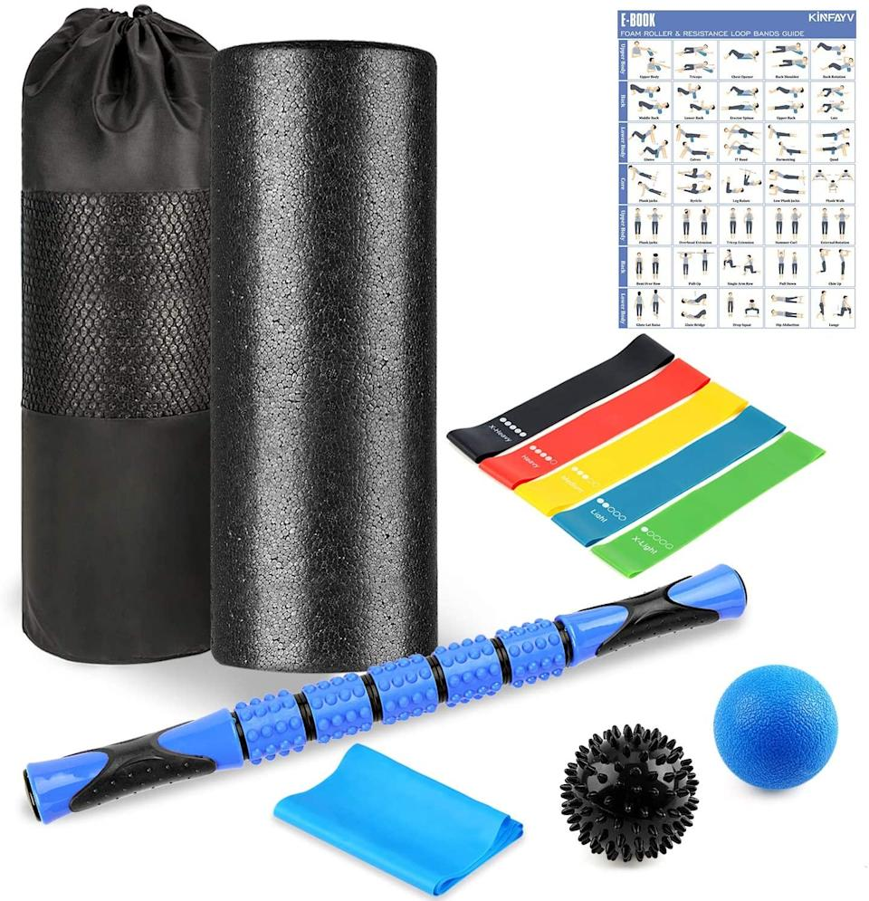 "<br><br><strong>KINFAYV</strong> High Density Foam Roller Set, $, available at <a href=""https://amzn.to/3lJwuwW"" rel=""nofollow noopener"" target=""_blank"" data-ylk=""slk:Amazon"" class=""link rapid-noclick-resp"">Amazon</a>"