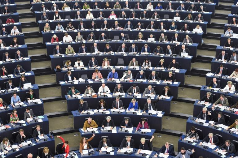 "The European Parliament Wednesday overwhelmingly adopted tough ""red lines"" for negotiations over a Brexit deal, on which EU lawmakers will have the final say in two years' time"