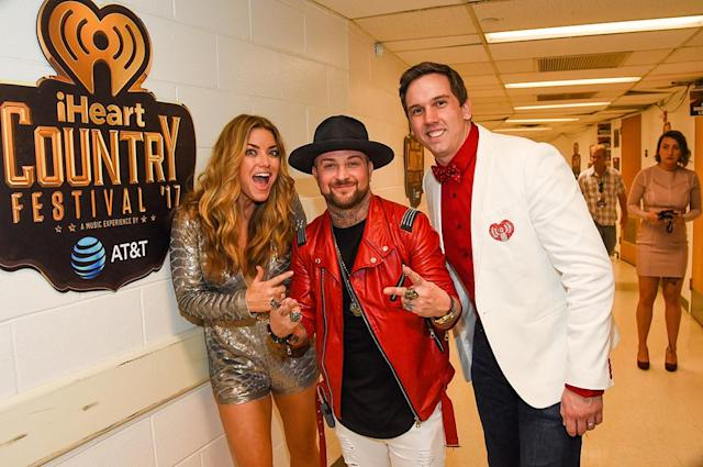 <p>Anne Hudson (KISS-FM's The Billy The Kidd Show and KASE 101), DJ Sinister and Remy (BIG 95.5) attends the 2017 iHeartCountry Festival, A Music Experience by AT&T at The Frank Erwin Center on May 6, 2017 in Austin, Texas. (Photo: Rick Kern) </p>