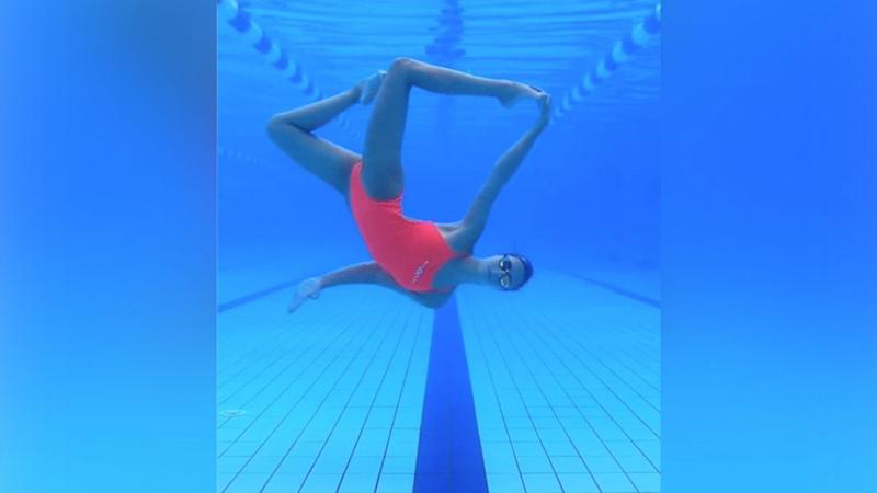 17-year-old is wowing the internet with her 'artistic swimming'