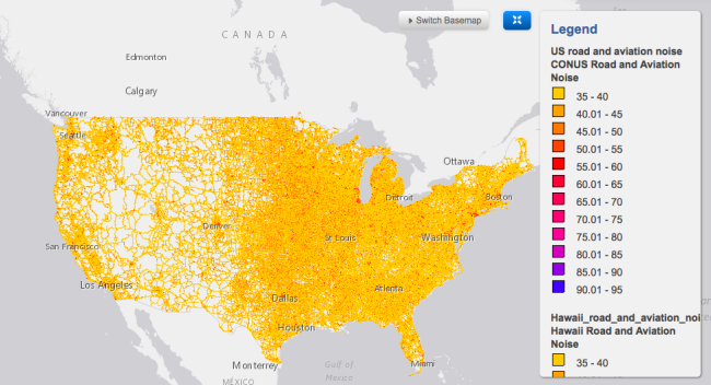 This fascinating map reveals how much your town suffers from airport ...