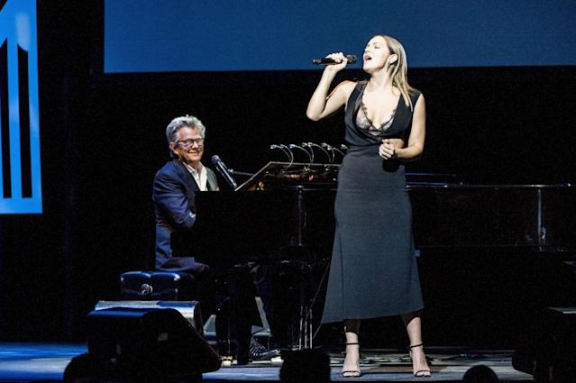 David Foster and Katharine McPhee perform at the 2017 Grammy Museum Gala honoring him on Sept. 19, 2017. (Photo: Timothy Norris/Getty Images)