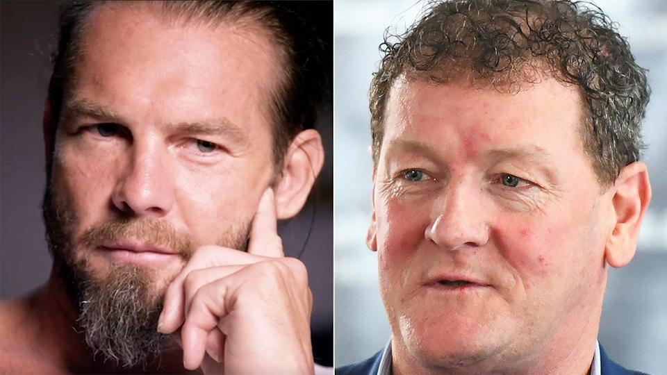 Ben Cousins' former agent Ricky Nixon says he has 'disowned' the former AFL star due to his ongoing personal issues. Pictures: Channel 7/Getty Images