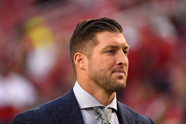 Tim Tebow's movie will sponsor a truck on Feb. 15. (Getty Images)